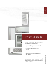 Full Fan Convector Range