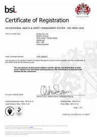 Occupational Health & Safety Management System OHSAS - ISO 45001:2018